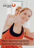 Sportprogramm Cover SS21